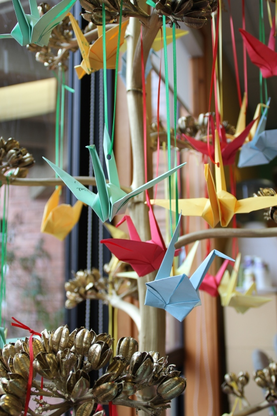 Wish Tree with beautiful paper cranes
